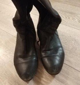 Сапоги демисезонные кожаные р37