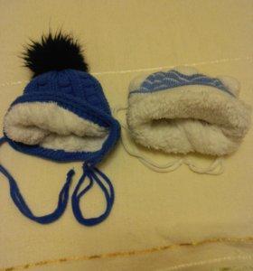 зимние шапочки по 200