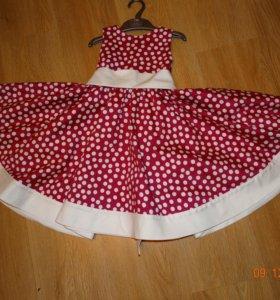Платье для девочки (с болеро) 98-104