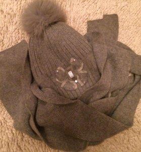 Шапка шарф зима комплект💝