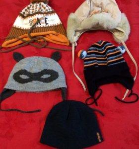 Детские шапки до 1 года