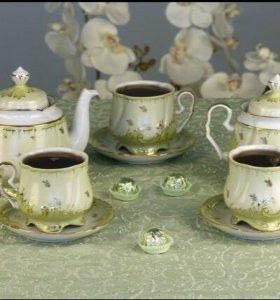 Очень красивый чайный сервиз на 6 персон