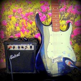 Комбик+гитара+шнур+чехол