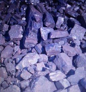 Уголь камнями