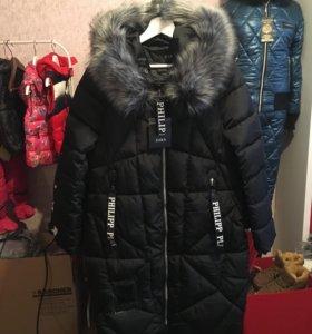 Удлиненная куртка пуховик (новая)