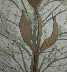 Фигура из дерева..цветок,елочка