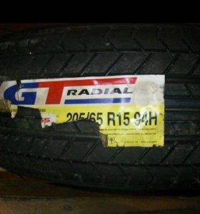 Шины новые 205/65/r15 gt. radial