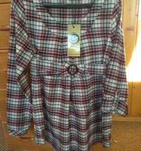 Новая рубашка для беременных 44 размер