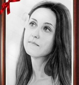 Портрет карандашом по фото