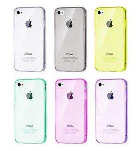 Ультратонкий чехол iPhone 4/4s (тонкий силикон)