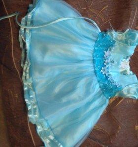 Платье для девочки на 1 год.  Одевали 2 раза