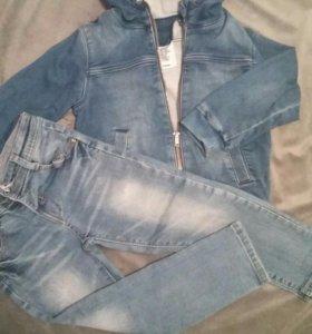 джинсовая ветровка + джинсы