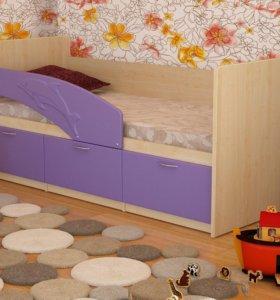 Кровать Дельфин (4 цвета) матовая