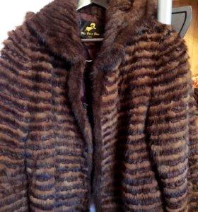 Курточка из вязаной норки