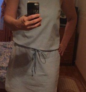 Платье джинсовое новое, размер 46