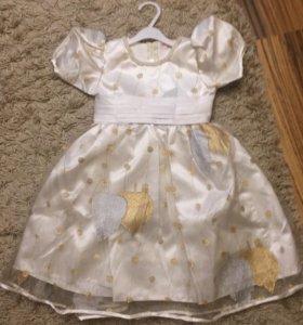 Новое нарядное платье р.104
