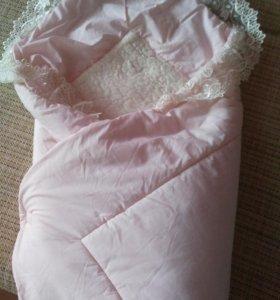 Одеяло-конверт на овчине