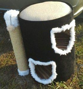 Домик для кошки, труба когтеточка