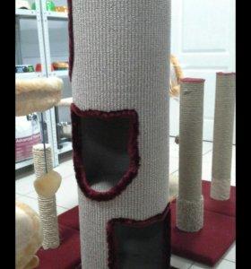 Труба когтеточка, дом для кошки
