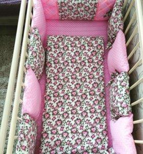 Детское постельное белье и бортики подушки