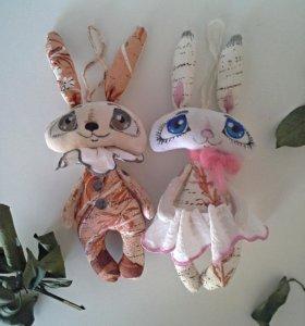 Зайчата на елочку