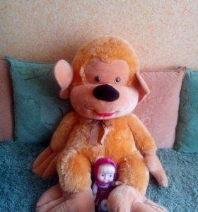 Мягкая игрушка обезьяна (новая)