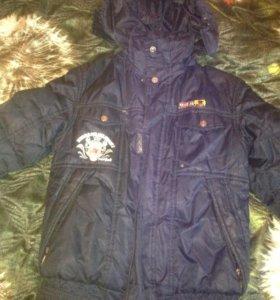Куртка зимняя на мальчика 130 см
