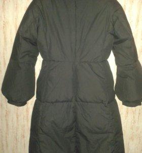 Пальто пуховое тонкое
