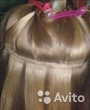 Наращивание волос. Ленты капсулы афро