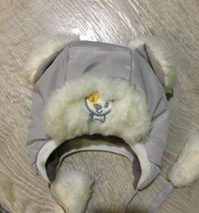 Шапка зимняя для новорождённых