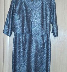 комрлект платье +жакет