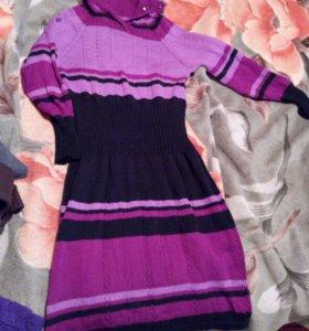 Платье вязанное шерстяное