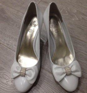 Свадебные белые кожаные туфли, 36-37 размер