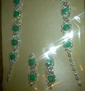 Ожерелье +серьги