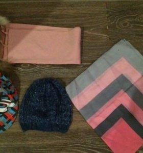 Кепка, шарфики, шапка