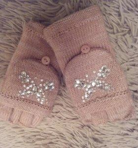 Перчатки на девочку 4-5 лет