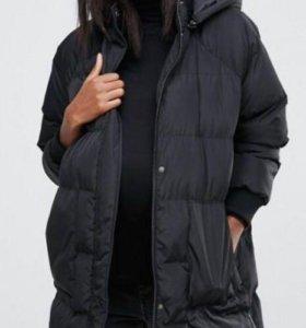 Дутая куртка для беременных с матовым эффектом