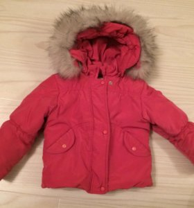 Зимняя ооочень тёплая куртка на девочку 2-х лет