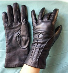 Кожанные перчатки 7 размера