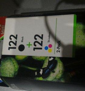 катридж 122церный+122цветной для HP deskjet
