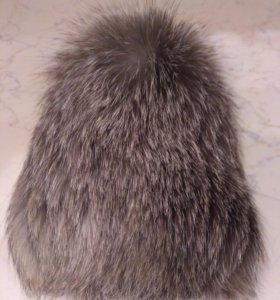 Зимняя песцовая шапка