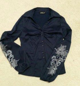 Блузки 2 шт.темно- синие