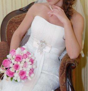 Свадебное платье + туфли в подарок
