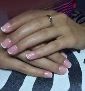Маникюр шеллак наращивание ногтей педикюр