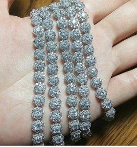 Браслет серебро в наличии