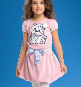 Платье велюровое Пеликан