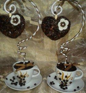 Кофейное сердце , прекрасный подарок