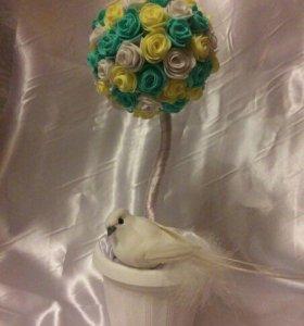 Топиарий, дерево с птичкой 🕊