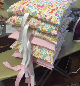 Бампера,бортики и подушки простынь