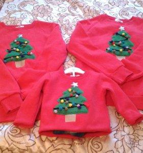 Одинаковые свитера для семьи Family look